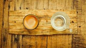 De varma skotten för bästa sikt för espresso Royaltyfria Bilder