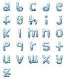 De vastgestelde 3D kleine letter van de waterdaling vector illustratie