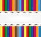 De vastgestelde achtergrond van het potlood Stock Foto's