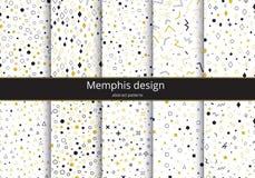 De vastgestelde achtergrond van Memphis Royalty-vrije Stock Afbeelding