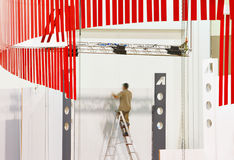 De vastgestelde bouw voor de tentoonstelling Royalty-vrije Stock Fotografie