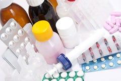 De vastgestelde close-up van de geneeskunde Royalty-vrije Stock Foto