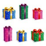 De vastgestelde doos van de inzamelingsverjaardag Royalty-vrije Stock Fotografie