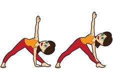 De vastgestelde driehoek van yogaasana stock illustratie