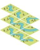 De vastgestelde eigenschappen van het tegelswater Royalty-vrije Stock Foto's