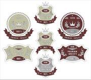 De vastgestelde etiketten van de Kwaliteit Royalty-vrije Stock Afbeelding