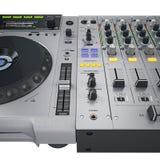 De vastgestelde grijze controles van DJ Stock Foto's