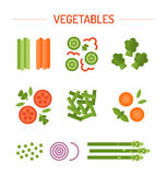 De vastgestelde groente versiert Royalty-vrije Stock Afbeeldingen