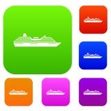 De vastgestelde inzameling van het cruiseschip Royalty-vrije Stock Afbeeldingen