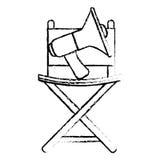 De vastgestelde pictogrammen van het filmvermaak Stock Afbeeldingen