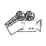 De vastgestelde pictogrammen van het filmvermaak Stock Foto's