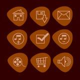 De vastgestelde reeks van het pictogram Royalty-vrije Stock Afbeelding