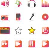 De Vastgestelde Reeks van het pictogram - Muziek Royalty-vrije Stock Foto