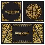 De vastgestelde Thaise vector van patroonlijnen Stock Afbeelding