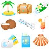 De vastgestelde Vakanties van het pictogram Royalty-vrije Stock Afbeelding