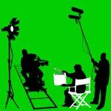 De vastgestelde vector van de film Royalty-vrije Stock Afbeelding