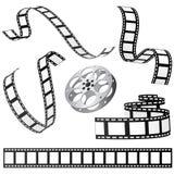 De vastgestelde vector van de film Stock Afbeelding