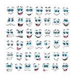 De vastgestelde vector van de gezichtsuitdrukking vector illustratie