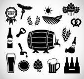 De vastgestelde vector van het bierpictogram Royalty-vrije Stock Foto