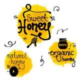 De vastgestelde VECTOR van het honingsteken Stock Foto's