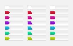 De vastgestelde vector van de knoop Stock Fotografie