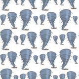 De vastgestelde vector vernietigende tornado van het beeldpatroon royalty-vrije illustratie