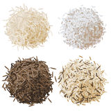 De vastgestelde vectorillustratie van de rijststapel Stock Afbeelding