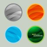 De vastgestelde vectorkleur van de cirkel mooie abstracte golf Royalty-vrije Stock Foto