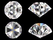 De vastgestelde verschillende geïsoleerde mening van de diamant Stock Afbeelding