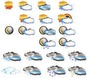 De vastgestelde voorspelling van het weerpictogram Royalty-vrije Stock Fotografie