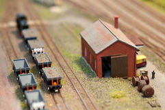 De vastgestelde vracht van de trein Royalty-vrije Stock Foto
