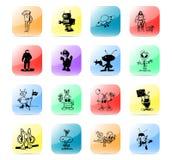 De vastgestelde vreemdelingen van het pictogram Royalty-vrije Stock Fotografie
