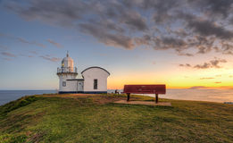 De vastspijkerende Haven Macquarie van de Puntvuurtoren Stock Afbeelding