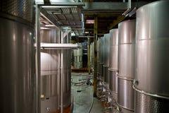 De Vaten van de wijnmakerij Stock Foto's