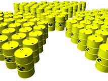 De vaten van het kernafval Stock Foto