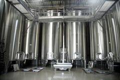 De vaten van het roestvrij staal voor wijn Royalty-vrije Stock Foto