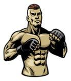 De vechter stelt stock illustratie