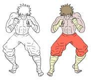 De vechter trekt royalty-vrije illustratie
