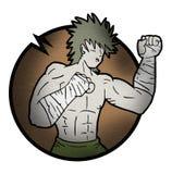 De vechter trekt stock illustratie