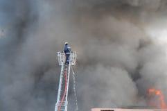 De vechter van de brand Stock Foto's