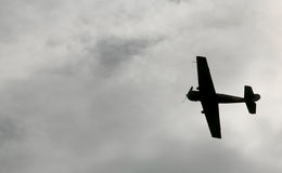 In de vechter van hemel Russische Sovjet militaire vliegtuigen, val vliegtuigen van de tweede wereldoorlog aan Royalty-vrije Stock Afbeeldingen