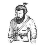De vechter van Japan van judo of Jioe-jitsoe royalty-vrije illustratie