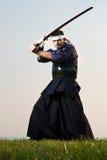 De vechter van Kendo Stock Afbeeldingen