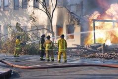 De Vechters van de brand Stock Foto