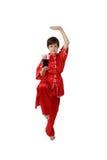 De vechters van jongenswushu met kola Stock Foto