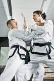 De vechters van vechtsporten Stock Foto's