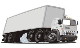 De vecteur de dessin animé de cargaison camion semi Photo libre de droits