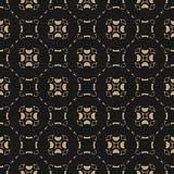 Or de vecteur et fond noir Modèle sans couture géométrique de grille abstraite illustration de vecteur