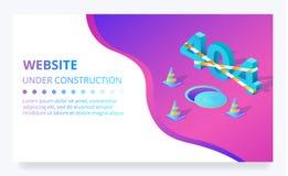 de vector in aanbouw pagina van de 404 foutenwebsite vector illustratie