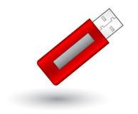 De vector Aandrijving van de Flits van USB Royalty-vrije Stock Foto's
